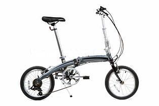 """Велосипед складаний Langtu KW017 16"""" сріблястий/чорний"""