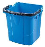 Пластмассовое ведро 25 л квадратное, синее SK 800B