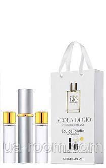 Мини-парфюм мужской Giorgio Armani Acqua di Gio pour homme, 3х15 мл, фото 2