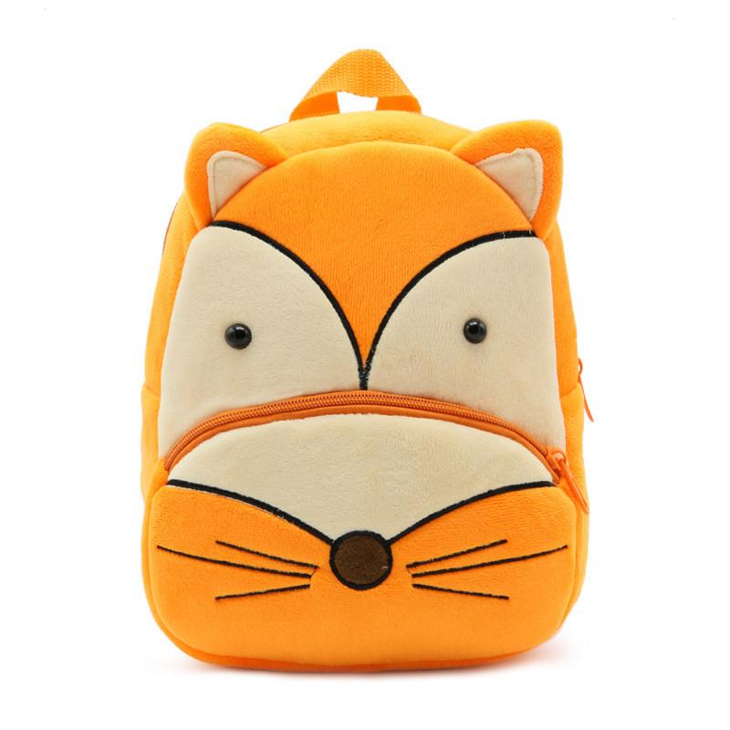Детский велюровый рюкзак Лисичка
