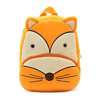 Детский велюровый рюкзак Лисичка, фото 1