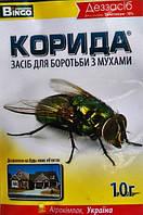 Корида / Коррида, 10 г — инсектицидное дезинфицирующее средство для уничтожения мух и слепней в помещениях