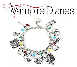 Браслет Дневники Вампира с подвесками Vampire Diaries