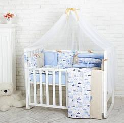 Комплект детского белья Baby Design Premium машинки 6 пр