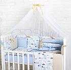 Комплект детского белья Baby Design Premium машинки 6 пр, фото 2