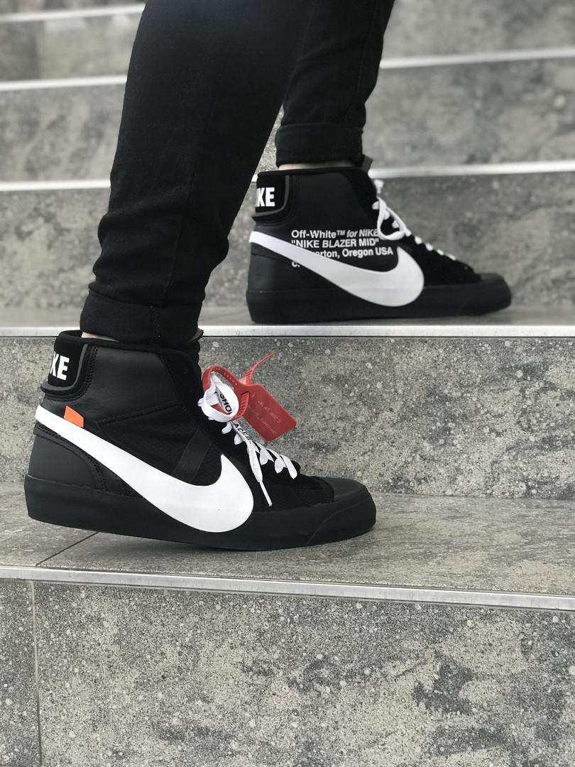 9b6c6af9dd55 Кроссовки Nike Blazer Mid Black x OFF