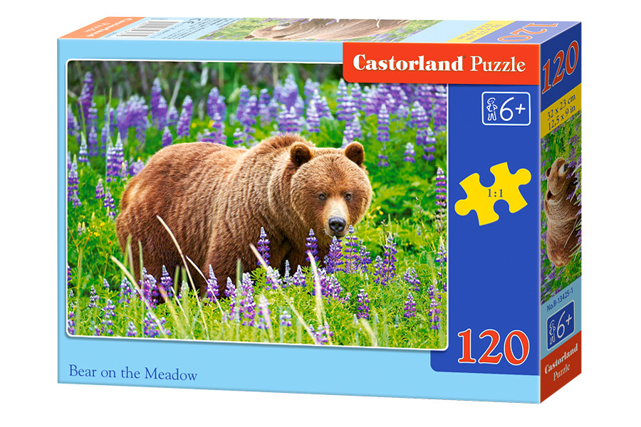 "Пазлы на 120 элементов ""Медведь на лугу"""