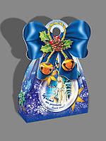 Новогодняя картонная коробка, мешок Святой Николай, Картонная упаковка для конфет, 21х15х8 см