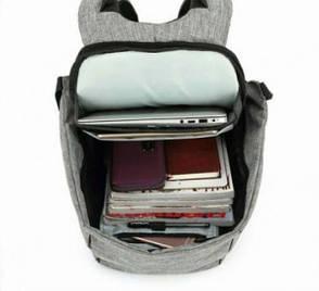 Рюкзак Bobby Антивор с USB. Серый, фото 2