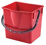 Ведро прямоугольное 18 л пластмассовое, красное SK 798R