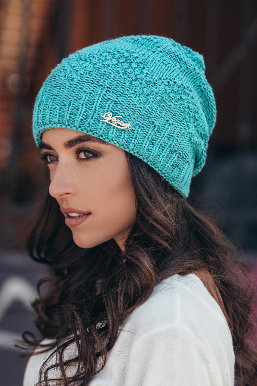 шапка вязаная женская айси мята меланж продажа цена в харькове