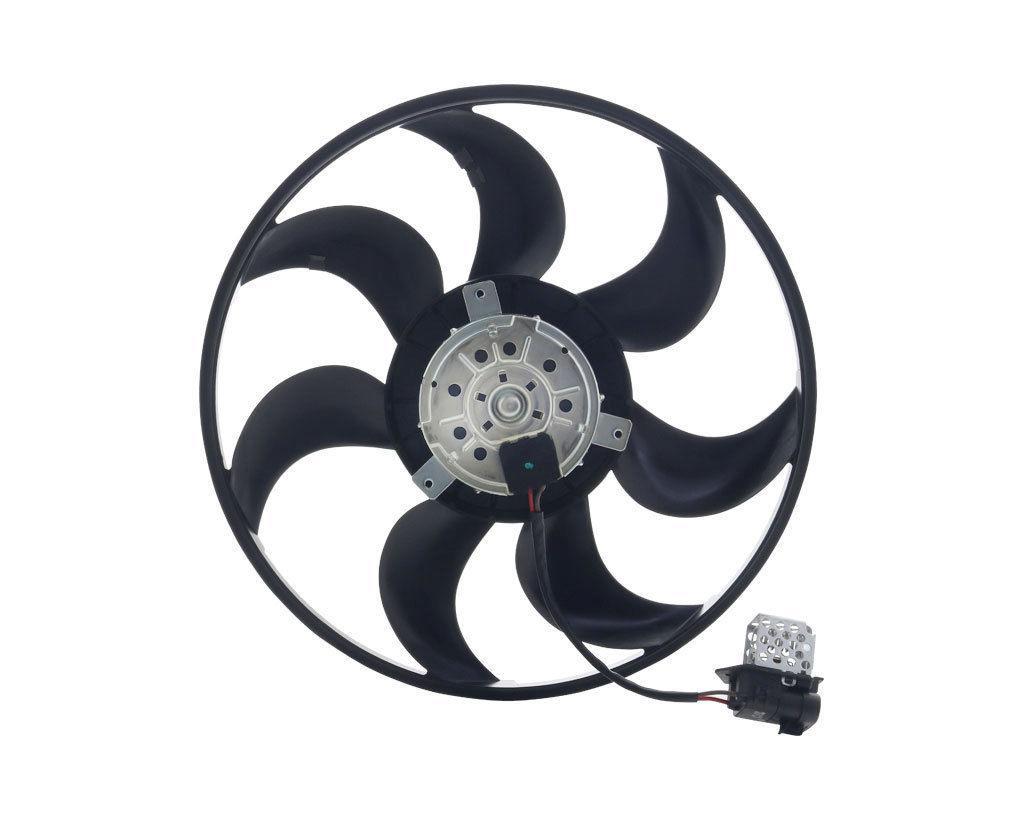 Вентилятор радиатора Opel Zafira A (1.2-1.8) 390mm (без дифузора с реостатом) KEMP