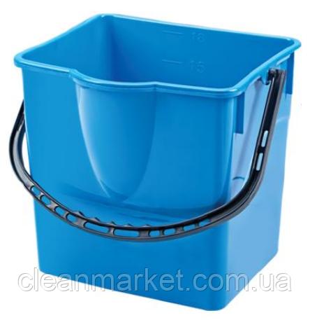 Ведро прямоугольное 18 л пластмассовое, синее SK 798B
