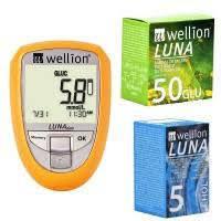 Анализатор Холестерина / Глюкометр / Холеcтерометр Wellion Luna Duo + т/п №25 glu + т/п №5 chol