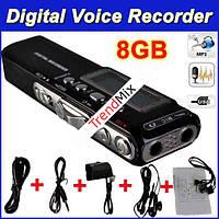 Цифровой Диктофон плеер флешка 8gB MP3 USB c2ААА Дата/время