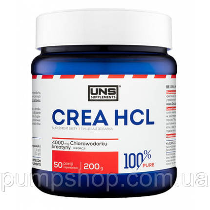Креатин гідрохлорид UNS 100% Pure CREA HCL 200 г, фото 2