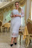Платье большого размера ПЛ3-786 (р.48-58), фото 1