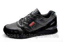 Мужские кроссовки в стиле Fila, All Black, фото 2