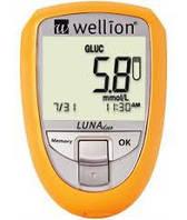 Акционный набор Wellion Luna Duo + тест-полоски №25 glu + тест-полоски №10 chol
