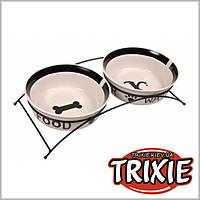 """Trixie (Трикси) Подставка """"Eat on Feet"""" с керамическими мисками, 2 шт х 0,6л/15см"""