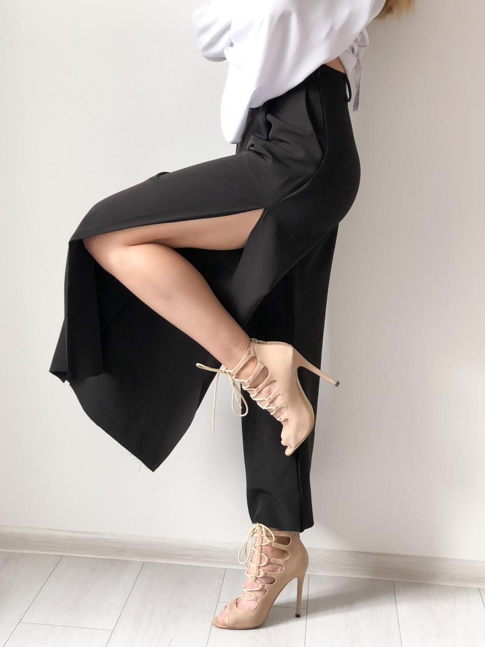 40bb1caa8899c7 Кюлоты, кюлоты с разрезом , модные женские кюлоты, стильные брюки кюлоты, дизайнерские  брюки