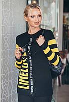 Серая вязаная Спортивная кофта стильная вязаная в полоску 42-48, фото 3