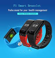 Фитнес браслет  F1 , пульсометр, тонометр, умные смарт часы, шагомер давление, фото 1