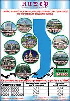 Распространение рекламных материалов по почтовым ящикам Киева