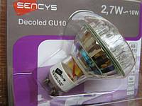 Энергосберегающая LED лампа SENCYS (48 LEDS 2,7W GU10 2700K)