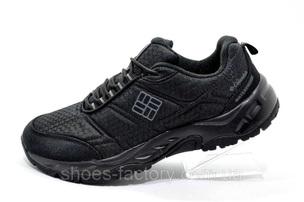 Мужские кроссовки в стиле Columbia Waterproof, Black\Gray (Firecamp 2)