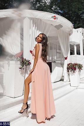 Персиковое платье в пол, фото 2
