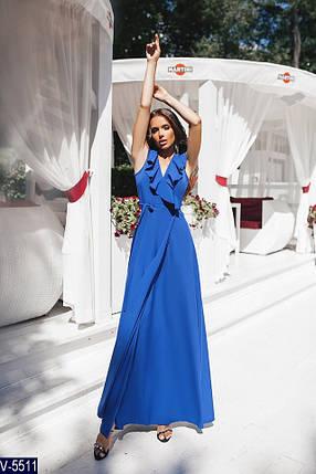 Платье в пол цвет электрик, фото 2
