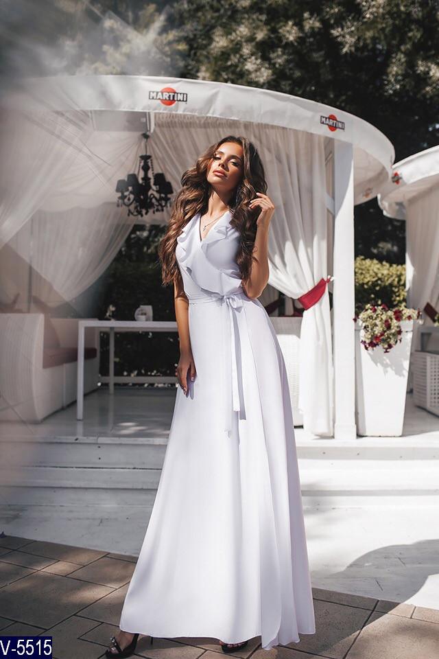 Длинное белое платье в пол
