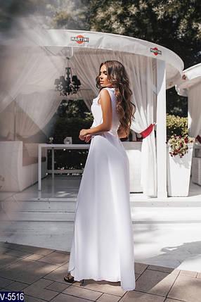 Длинное белое платье в пол, фото 2