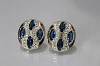 Серебряные серьги с маркизами , фото 1