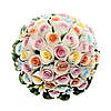 Фигурка-статуэтка из фарфора «Ваза с букетом цветов», h-11х11х11 cм, фото 2
