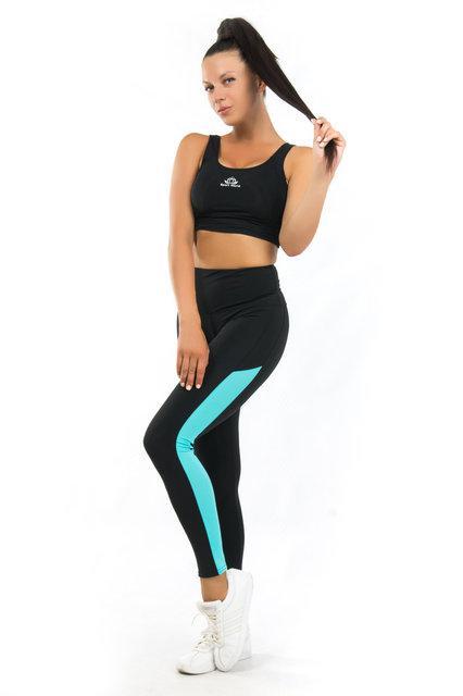 Женский спортивный комплект (42-44; 44-46; 46-48; 50-52) (мята) одежда для йоги и фитнеса из бифлекса