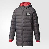 Мужская, подросток куртка, парка удлиненная, пальто спортивное, до колен или ниже колен. Для команд, цвет любо, фото 1