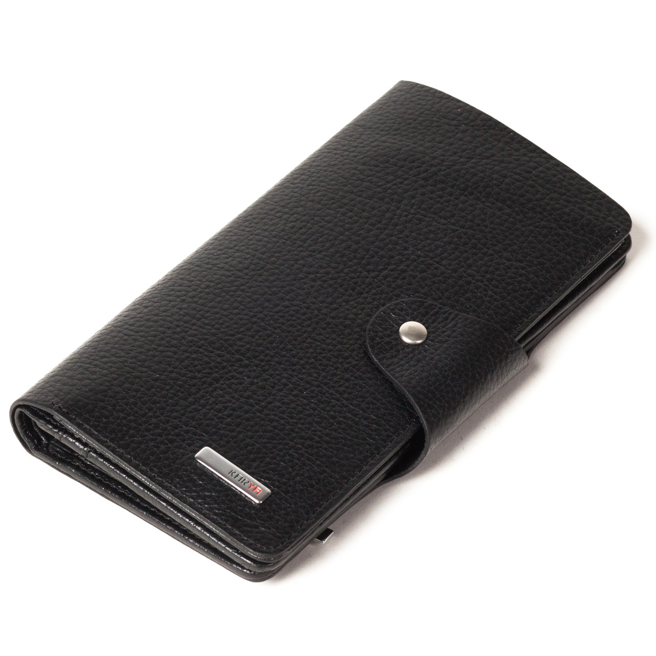 Мужское портмоне купюрник Karya 1122-45 кожаное черное