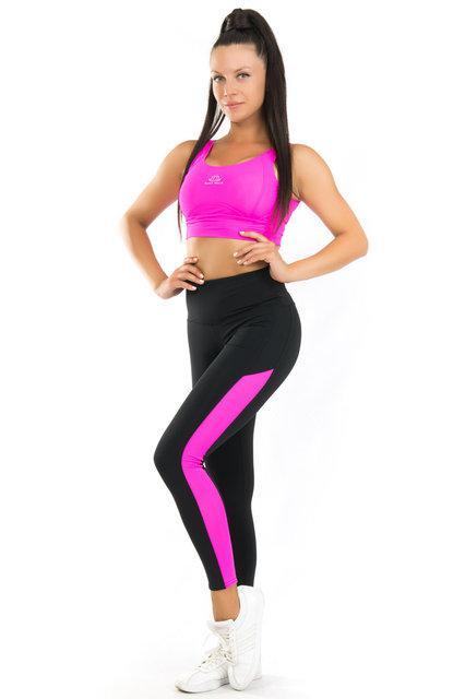 Женский спортивный комплект (42-44; 44-46; 46-48) (розовый) одежда для йоги и фитнеса из бифлекса