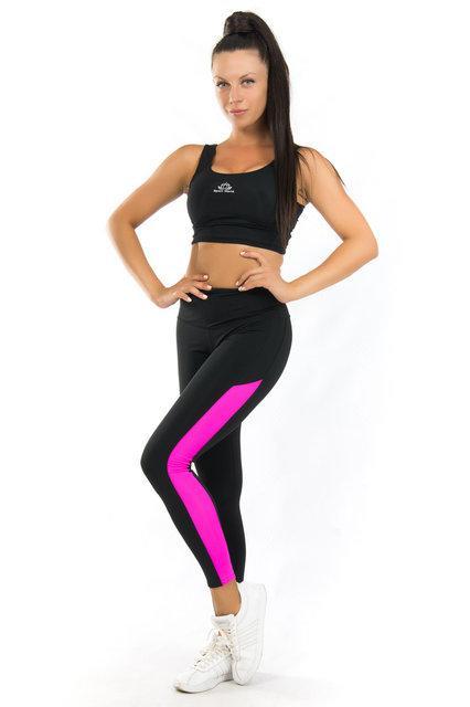 Женский спортивный комплект (42-44; 44-46; 46-48; 50-52) (розовый) одежда для йоги и фитнеса из бифлекса