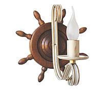 Люстра из дерева Штурвал старая бронза на 6 ламп, фото 2