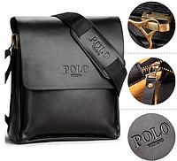 Кожаная мужская сумка Polo Videng. Поло Виденг. Реплика сумка Поло стильная сумка хит сумка
