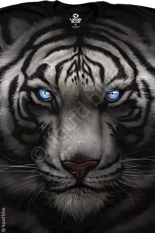 Футболки Liquid Blue MAJESTIC WHITE TIGER 31132