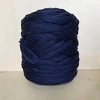 Толстая пряжа меринос. 21 микрон Темно-синий
