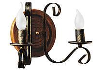 "Деревянная люстра ""Колесо"" на 12 ламп (диаметр колеса 800мм), фото 3"