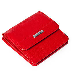 Маленький женский кошелек кожаный красный Karya 1106-46