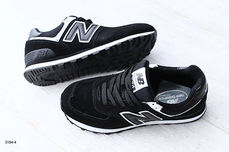 Женские черные кроссовки, из натуральной замши