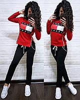 Модный трикотажный спортивный костюм женский  Tommy Hilfiger, фото 1