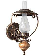 """Люстра в стиле лофт деревянная """"Керосинка"""" состаренное белое на 3 лампы, фото 2"""